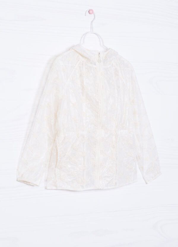 Wind breaker with embroidered tulle | OVS