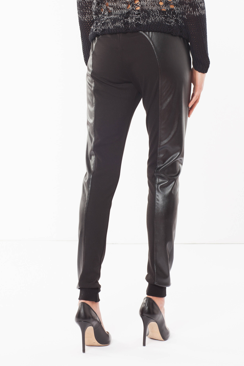 Imitation leather trousers image number null