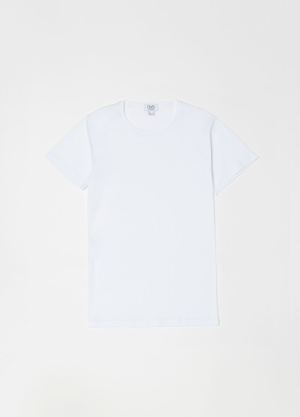 100% cotton undershirt with round neck