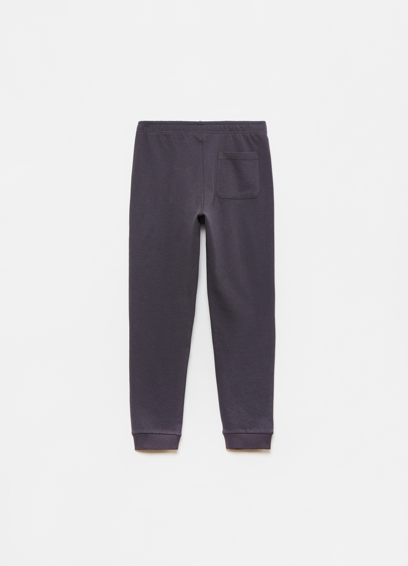 Joggers in 100% cotton fleece image number null