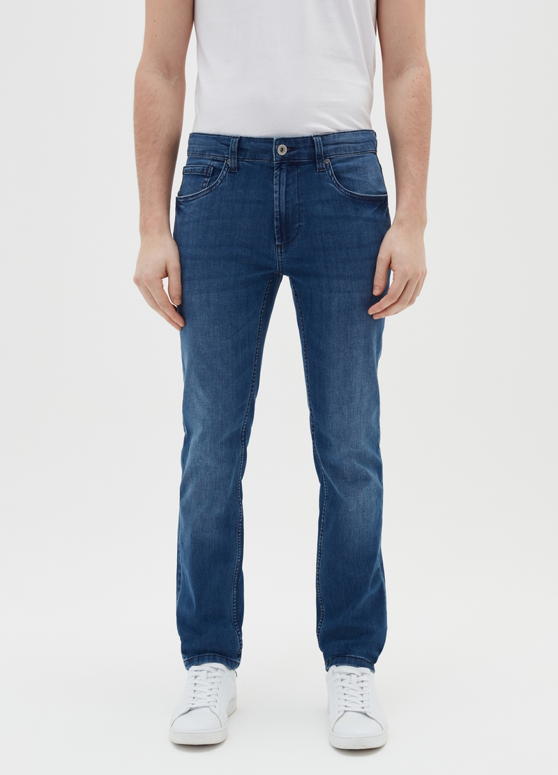 Jeans slim fit con scoloriture image number null