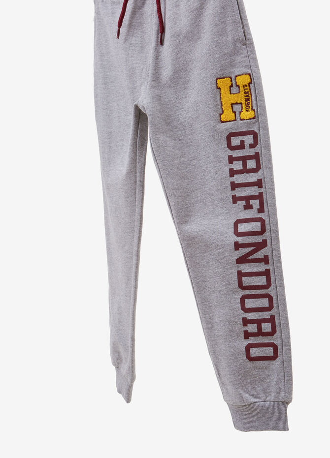 Joggers with Harry Potter print and patch