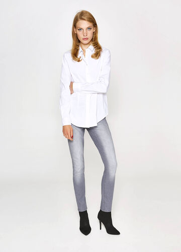 Washed-effect, slim-fit stretch jeans