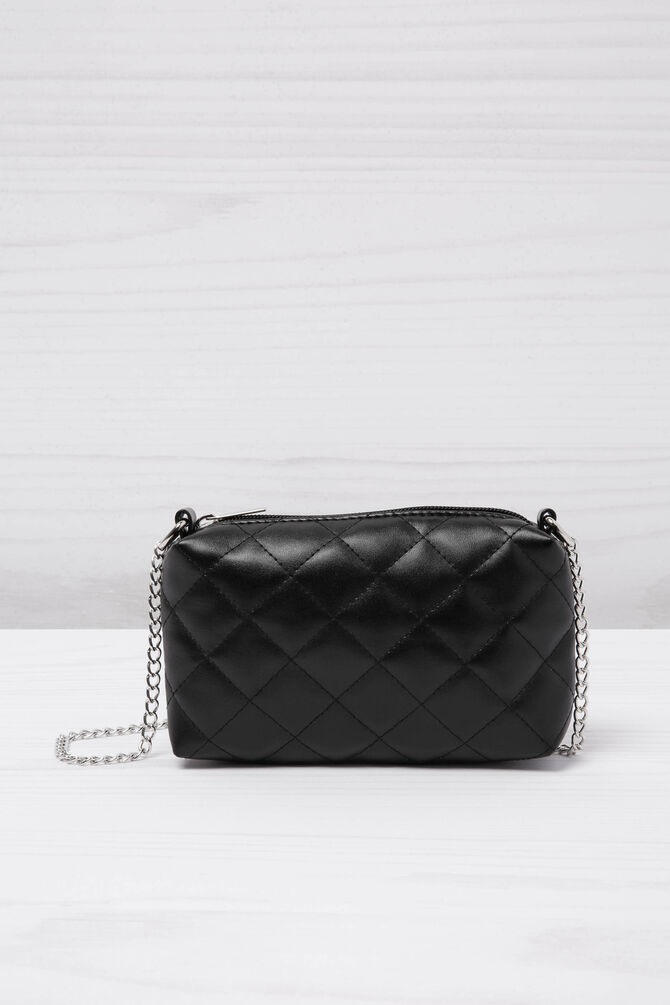 Leather look quilted mini bag