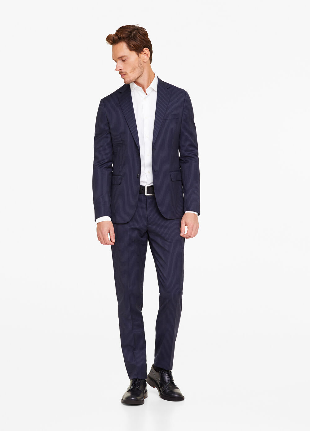 Regular-fit pinstripe suit