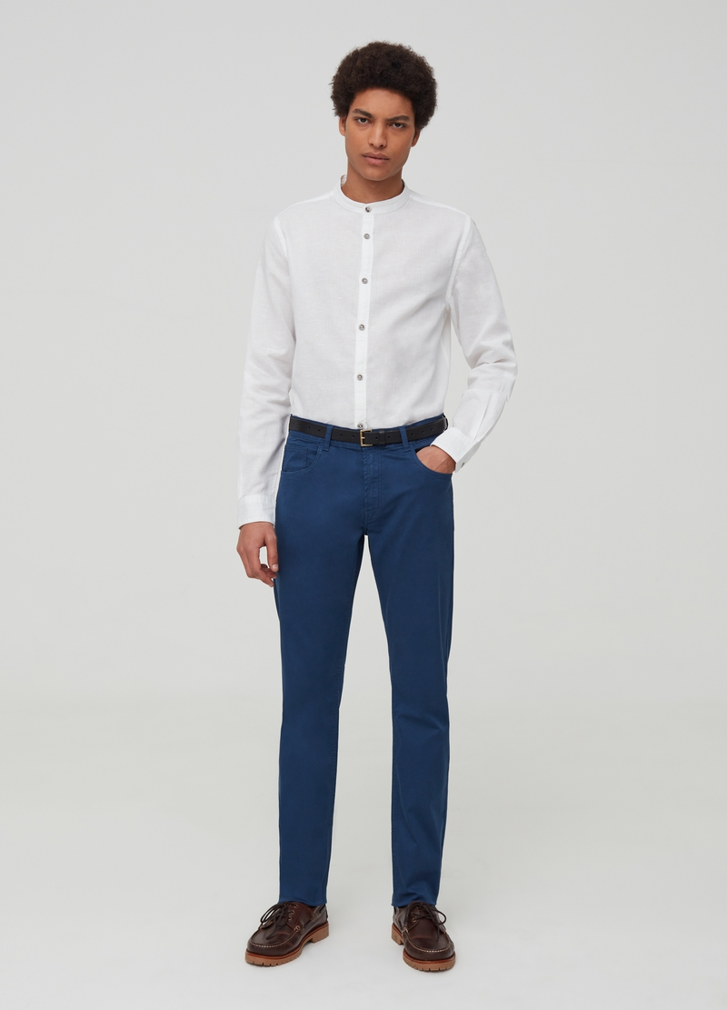 Five-pocket twill trousers image number null
