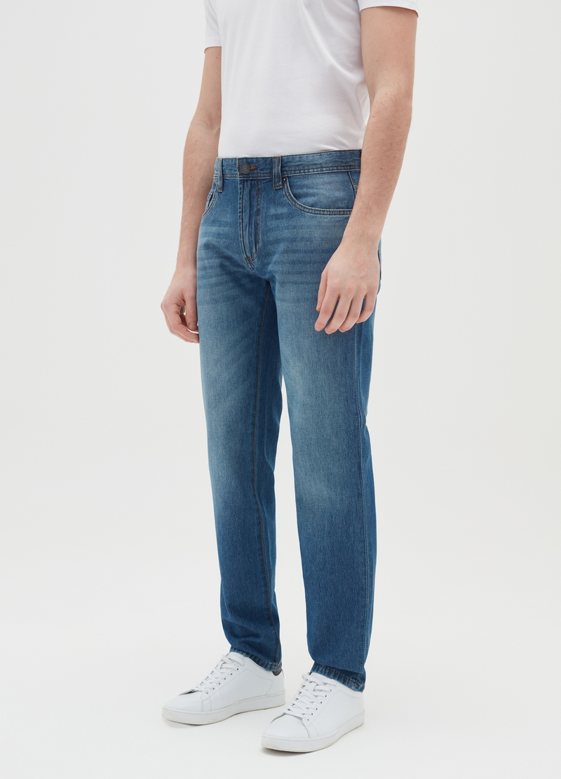 Jeans regular fit in cotone image number null