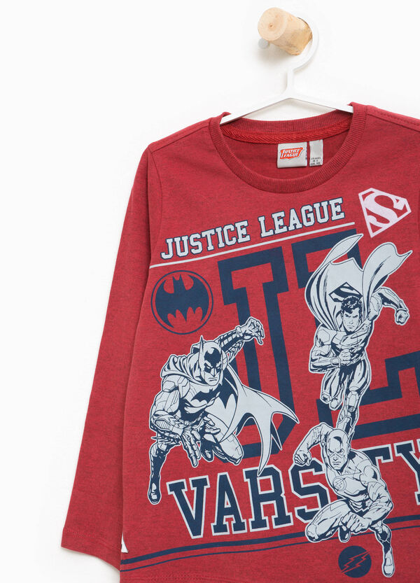 T-shirt in cotone stampa Justice League