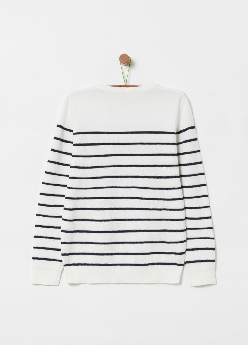 100% organic cotton top with stripes image number null