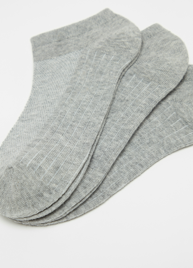 Three-pack short socks with pattern image number null