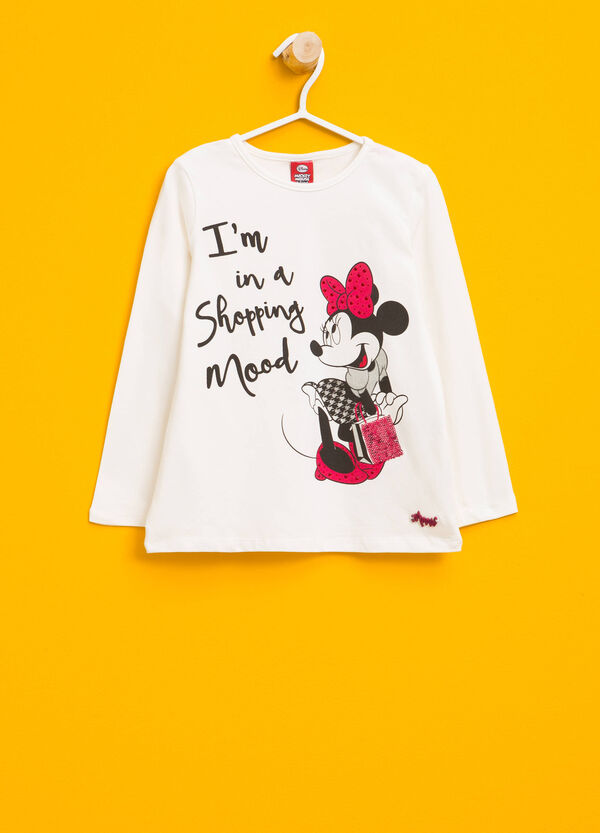 Stretch cotton T-shirt with Minnie Mouse print | OVS