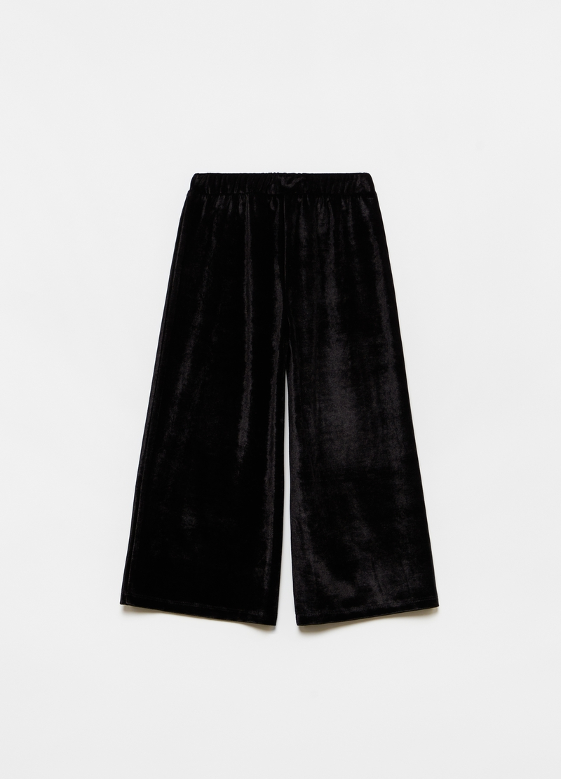 Velvet crop trousers image number null
