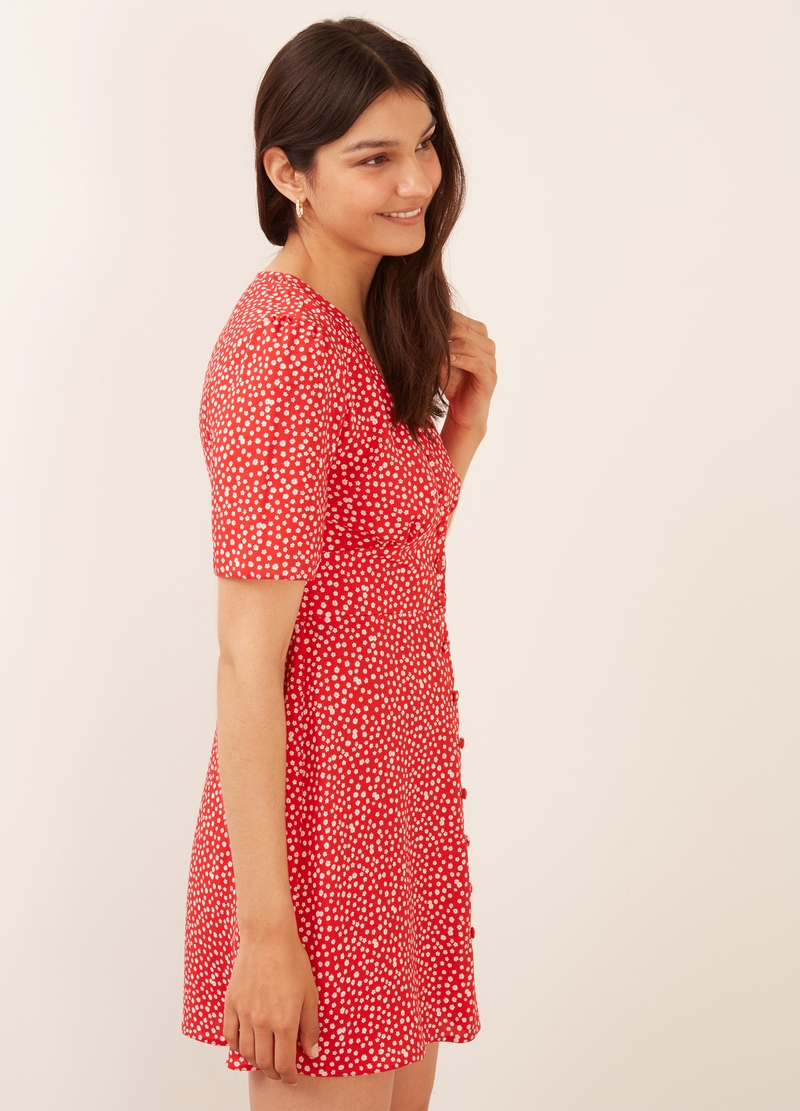 Nobody's Child mini dress with ditsy print image number null