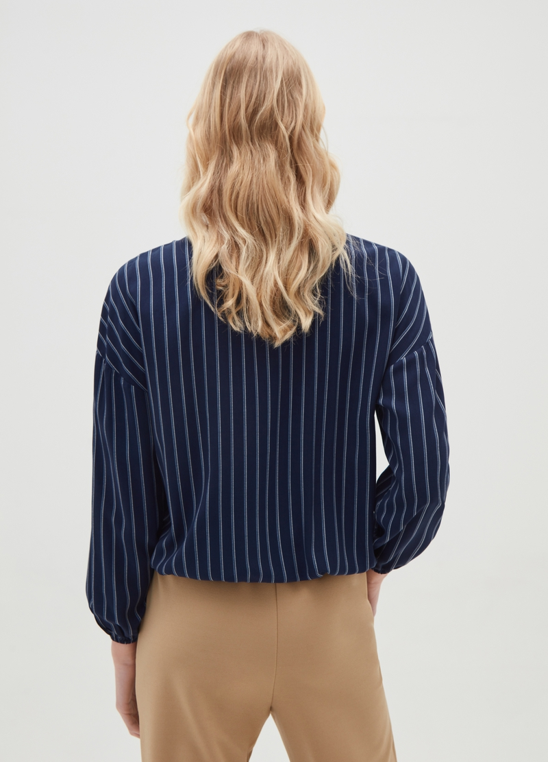 100% viscose blouse with laces image number null