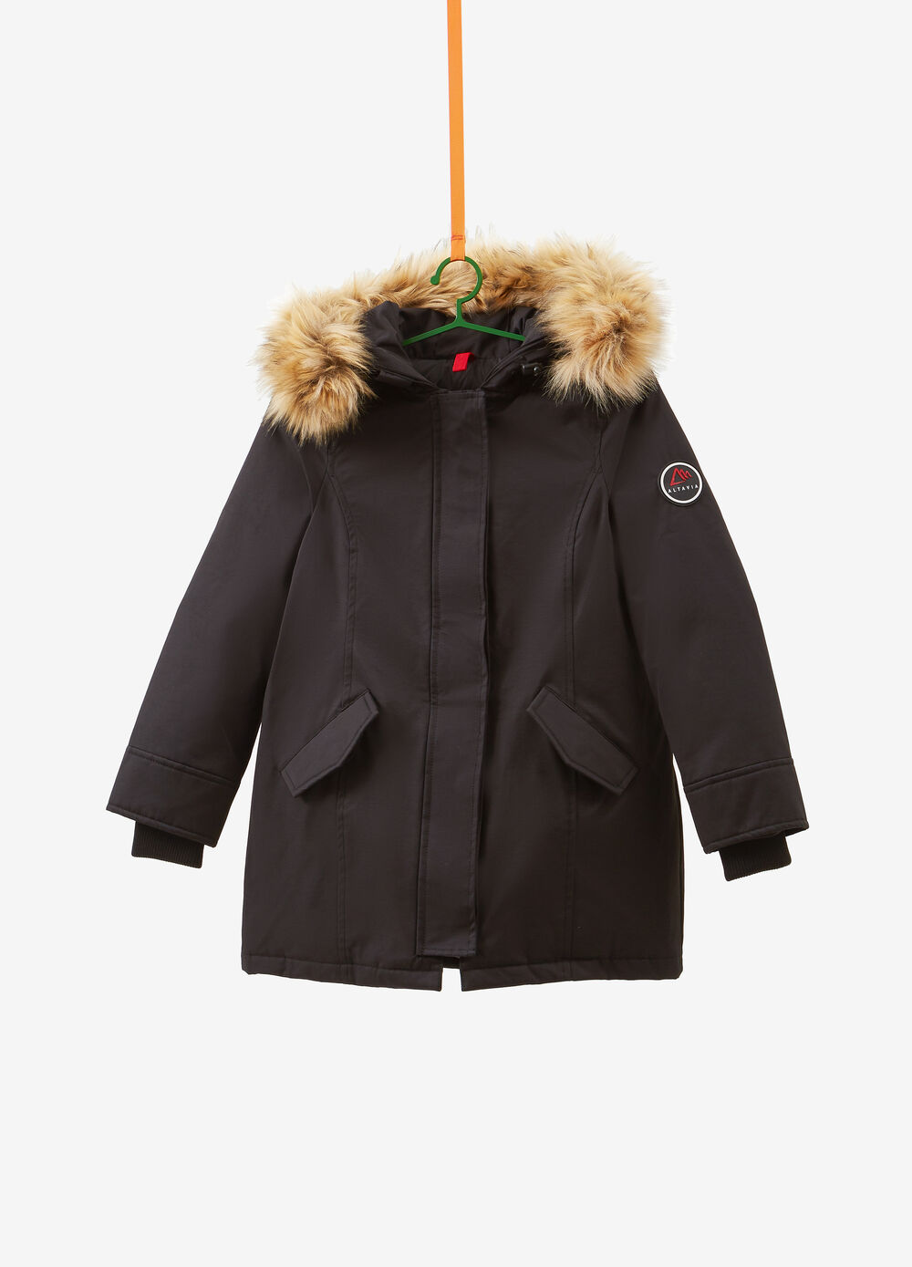Real down Altavia parka with hood