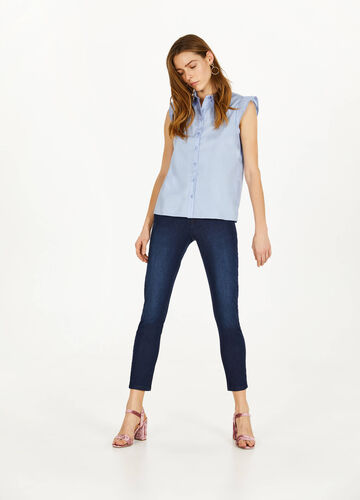 Skinny-fit stretch jeans with pockets