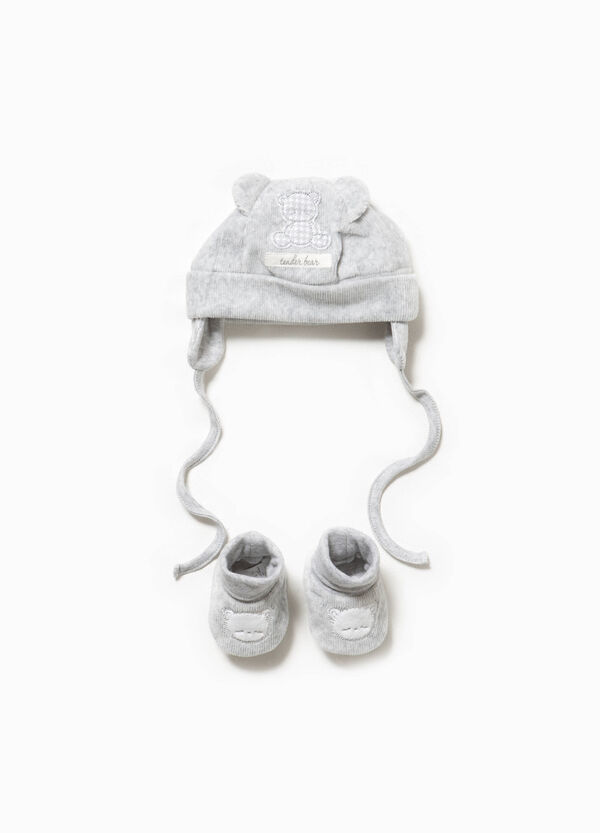 Teddy bear hat and shoes set | OVS