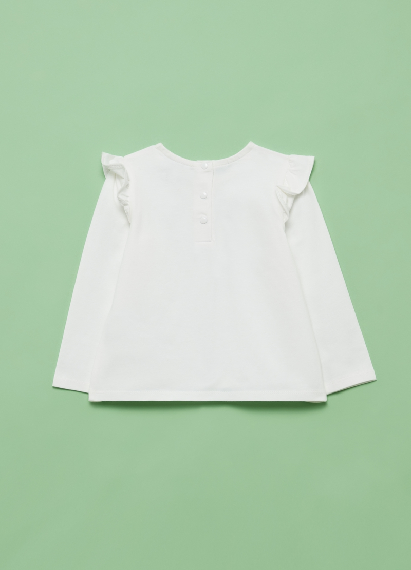 Long-sleeved T-shirt with frills image number null