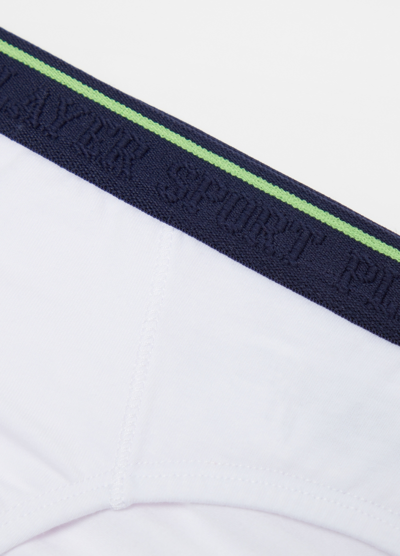 Solid colour briefs with lettering print image number null