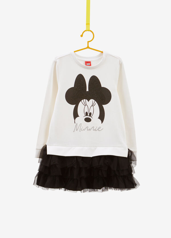 Dress with diamantés and Minnie Mouse print