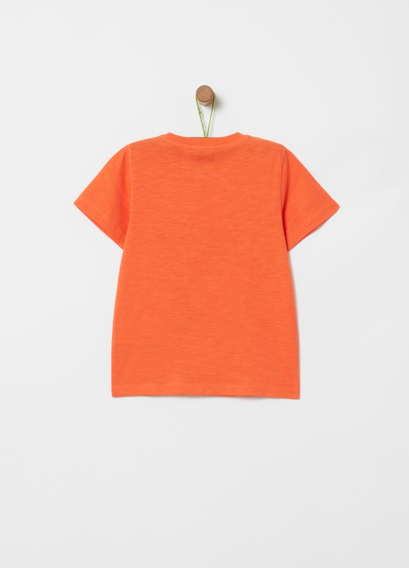 Slub jersey T-shirt with zip image number null