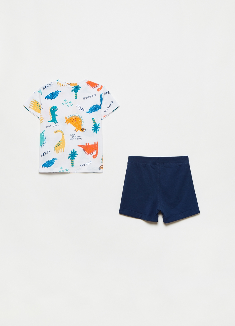 Jogging set with dinosaurs print image number null
