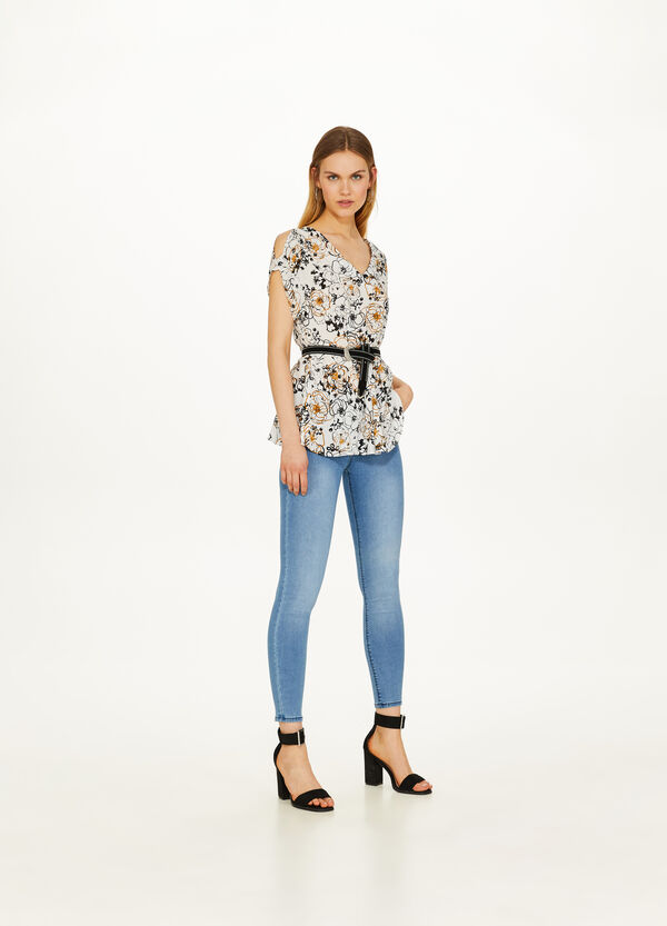 100% viscose Blouse with all-over print