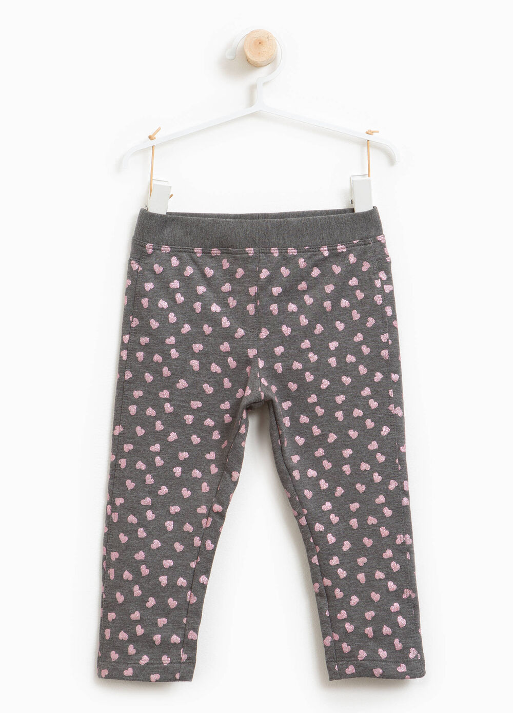Heart leggings in stretch cotton