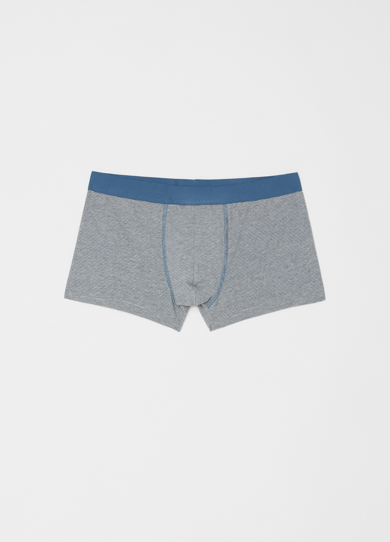 Three-pack boxer shorts with internal elastic and pattern image number null