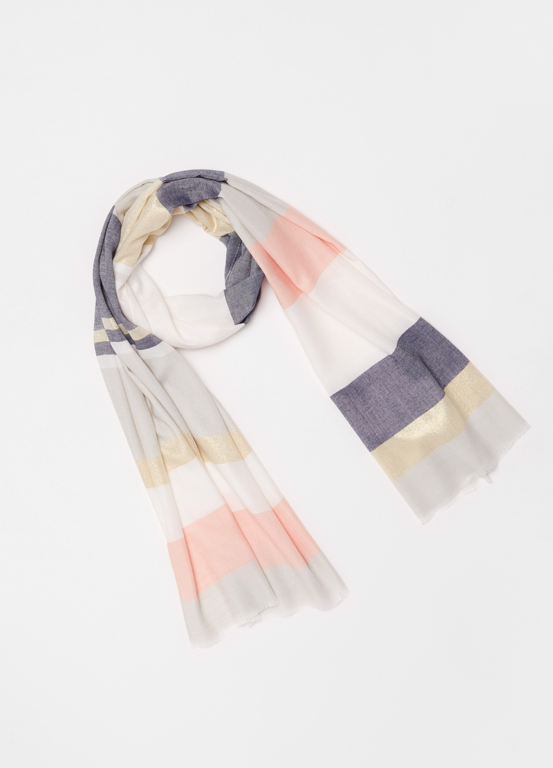 Pashmina with striped lurex image number null