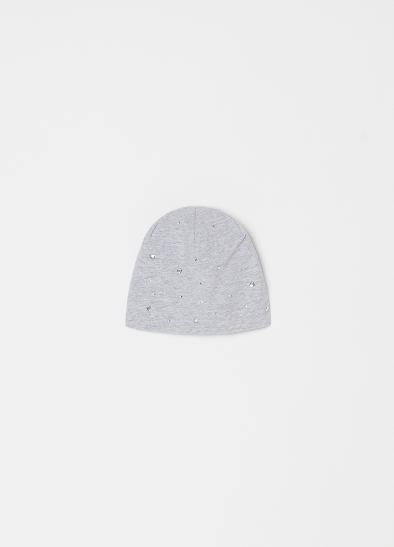 Cappello in jersey strass cuoricini image number null