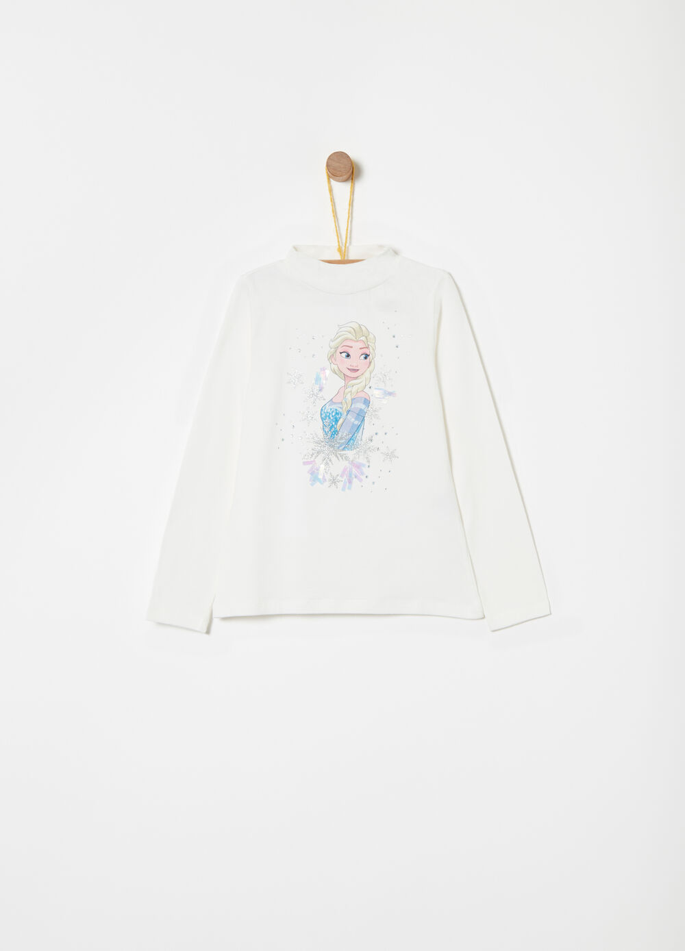 Turtleneck jumper with Disney Frozen applications