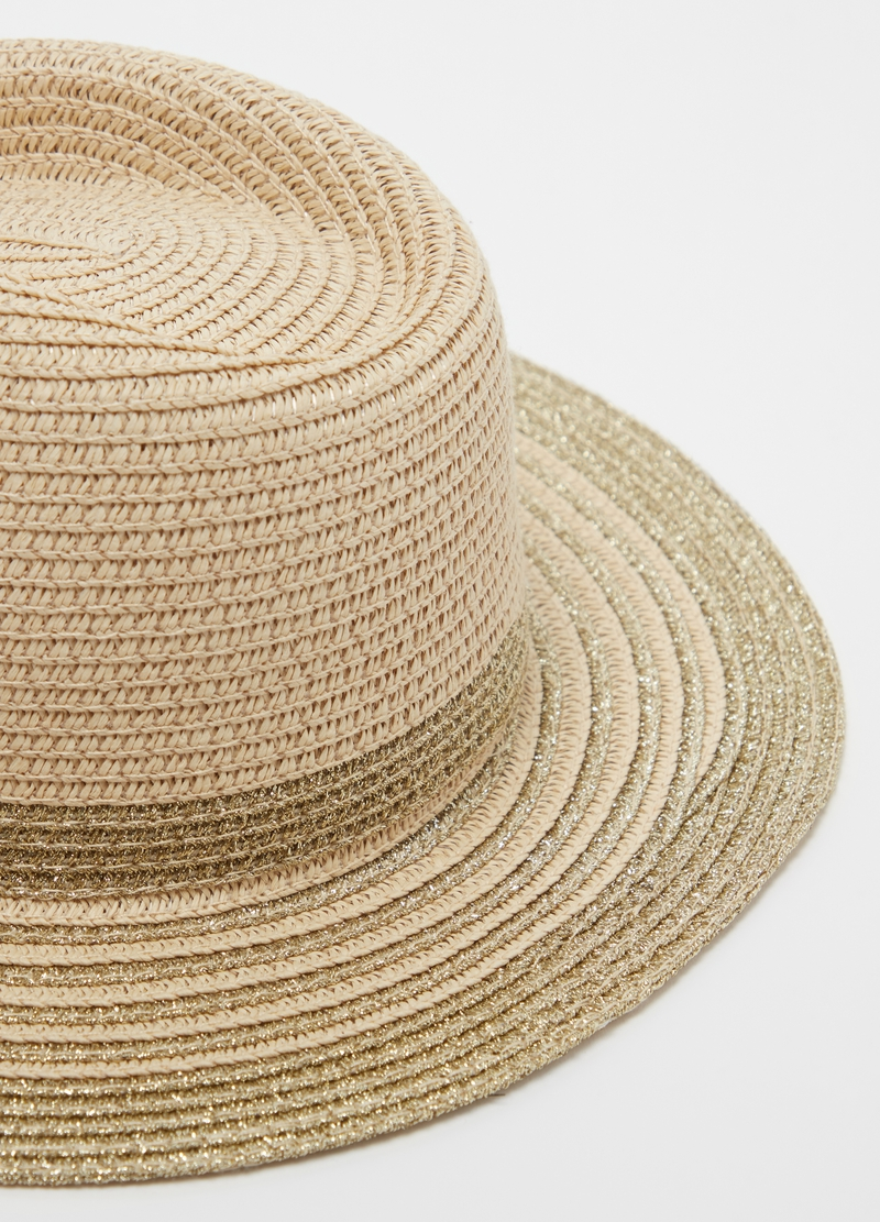 Straw hat with lurex image number null