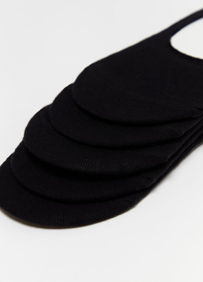 Five-pair pack stretch shoe liners