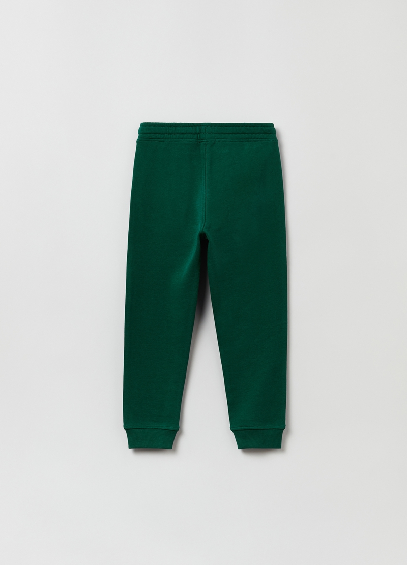 Joggers in felpa con coulisse e patch image number null