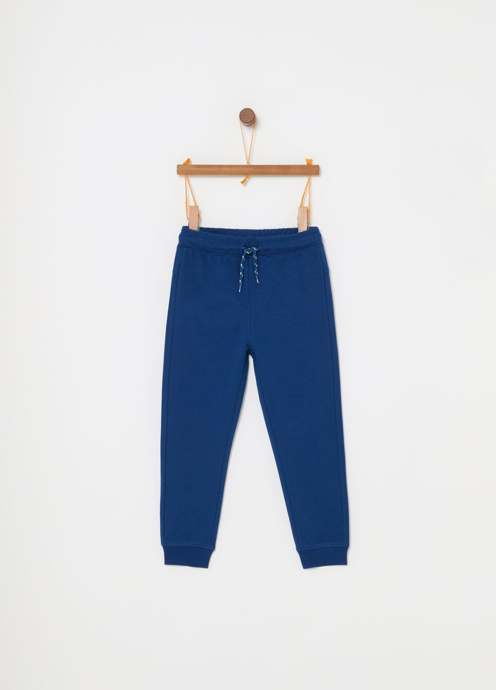 Pantaloni in French Terry di cotone e coulisse