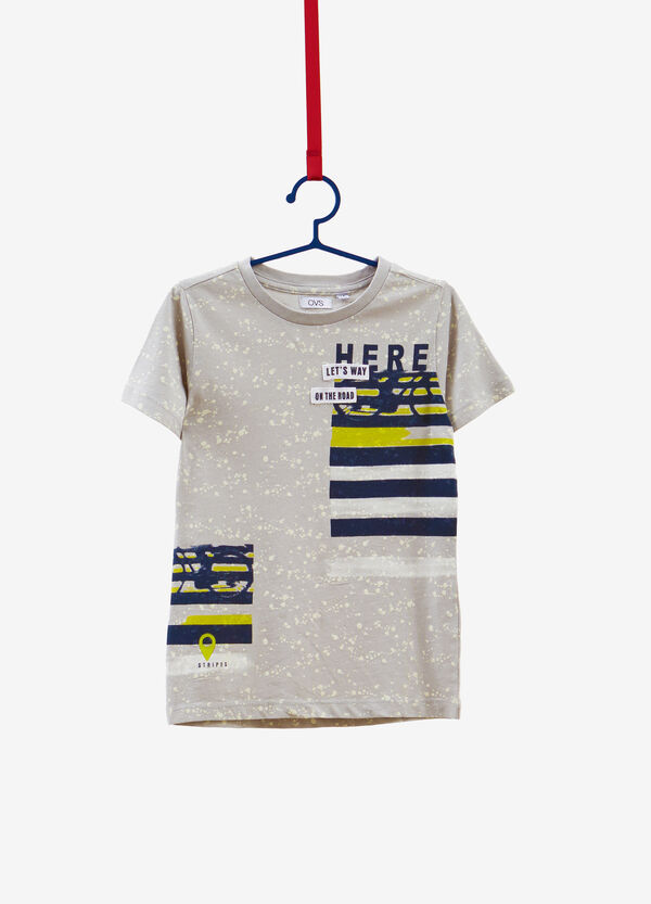 100% cotton T-shirt with printed pattern