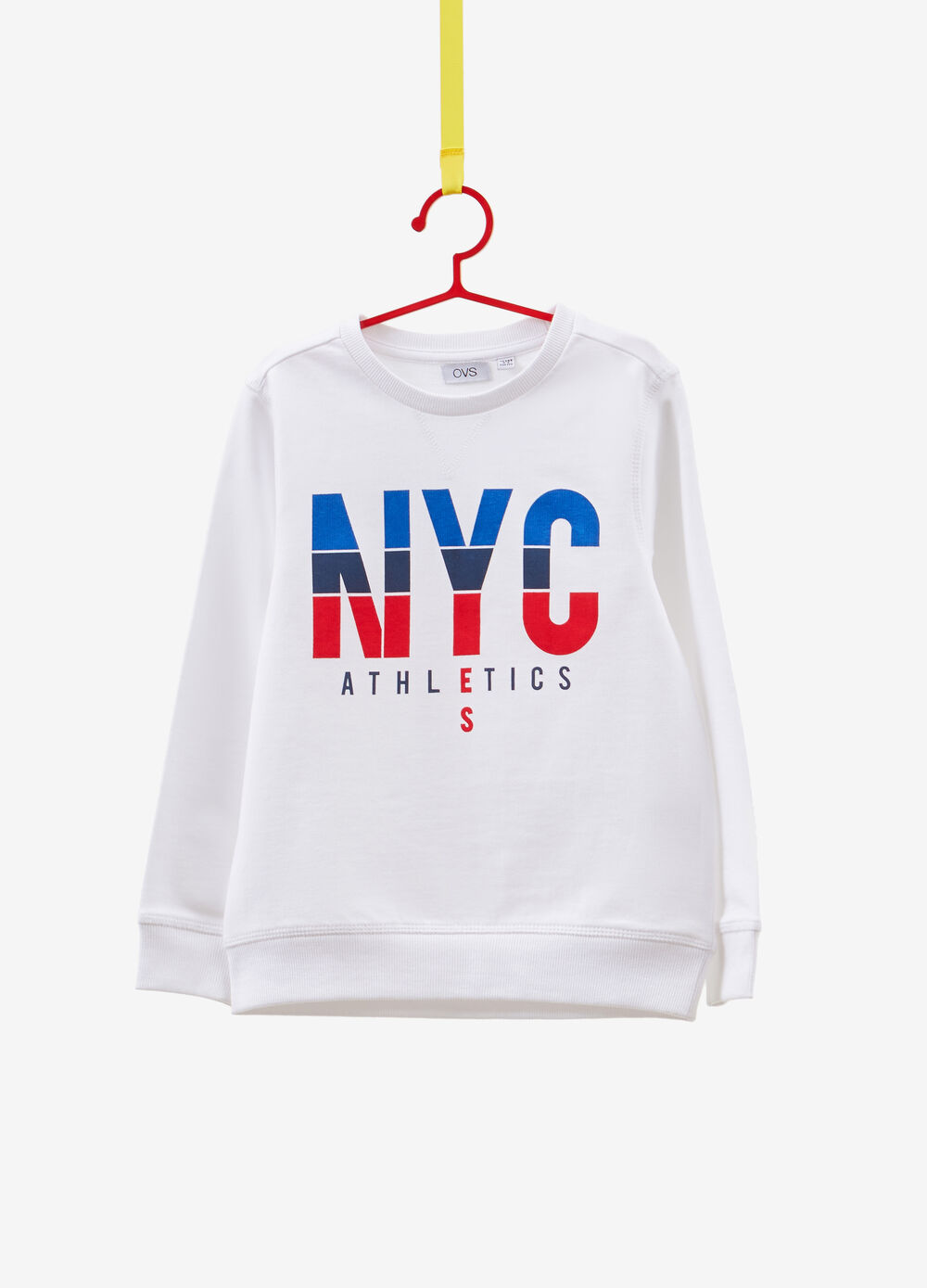 100% cotton sweatshirt with lettering
