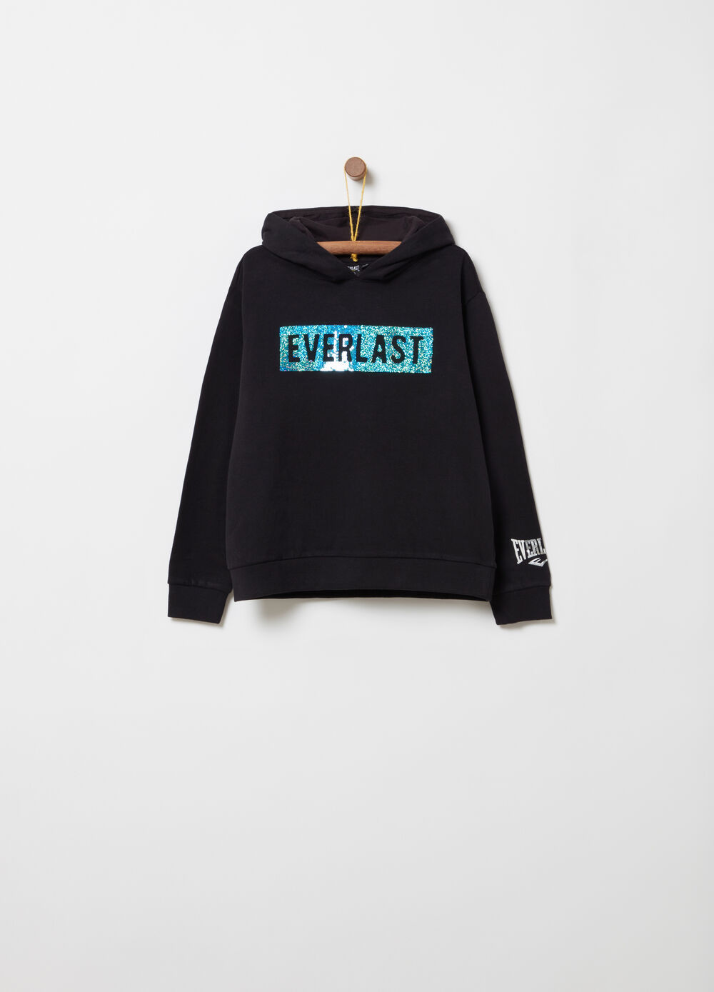 Everlast sequinned cotton sweatshirt