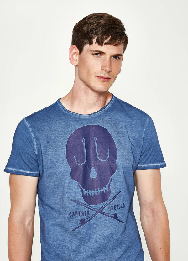 T-shirt in cotone cuciture delavate | OVS