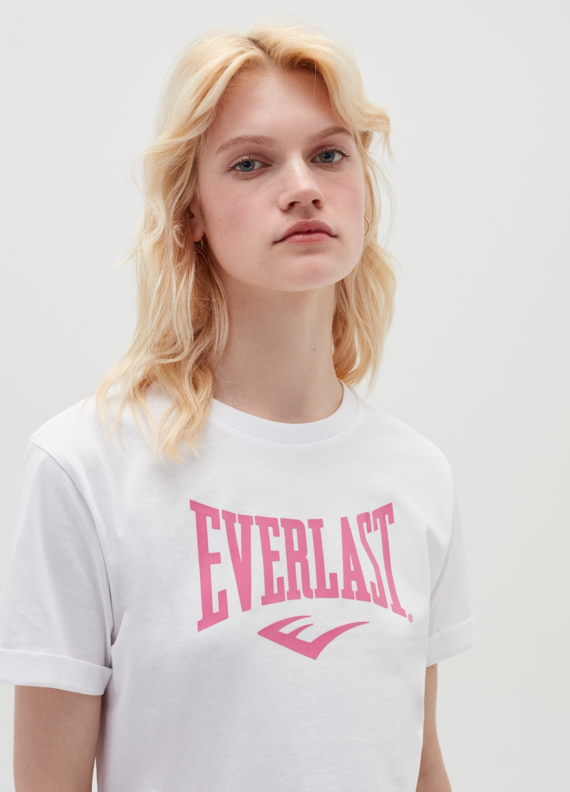 Cotton T-shirt with Everlast logo image number null