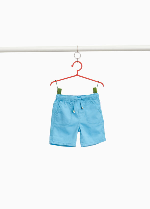 100% woven cotton Bermuda shorts