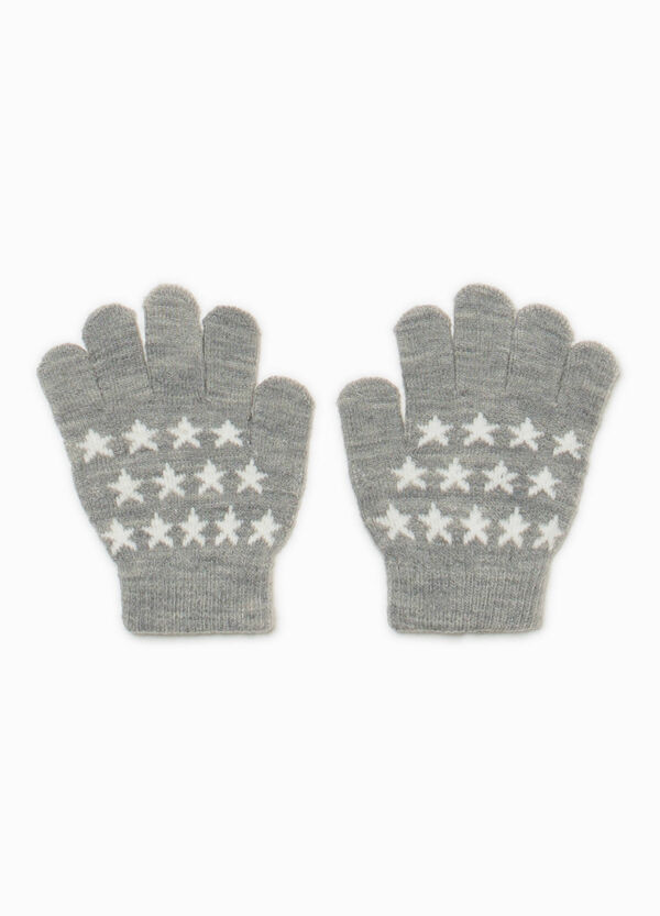 Knitted gloves with stars | OVS