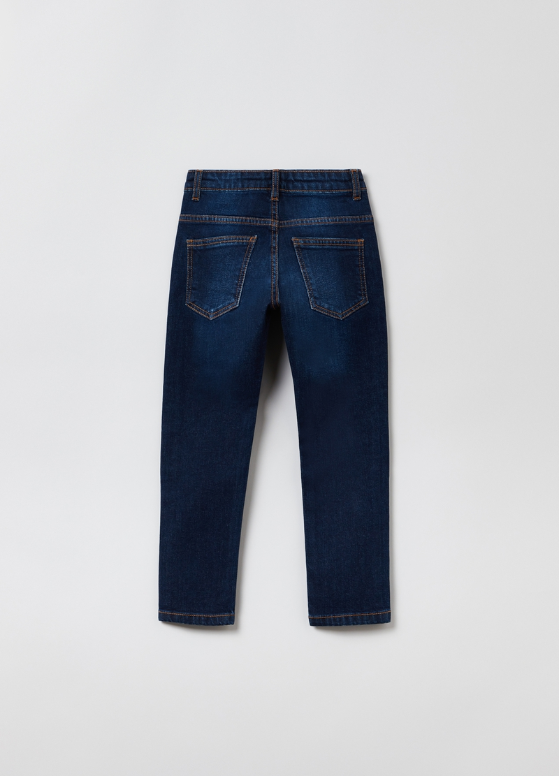 Jeans straight fit cinque tasche image number null