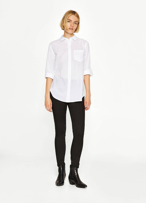 Cotton striped weave shirt | OVS