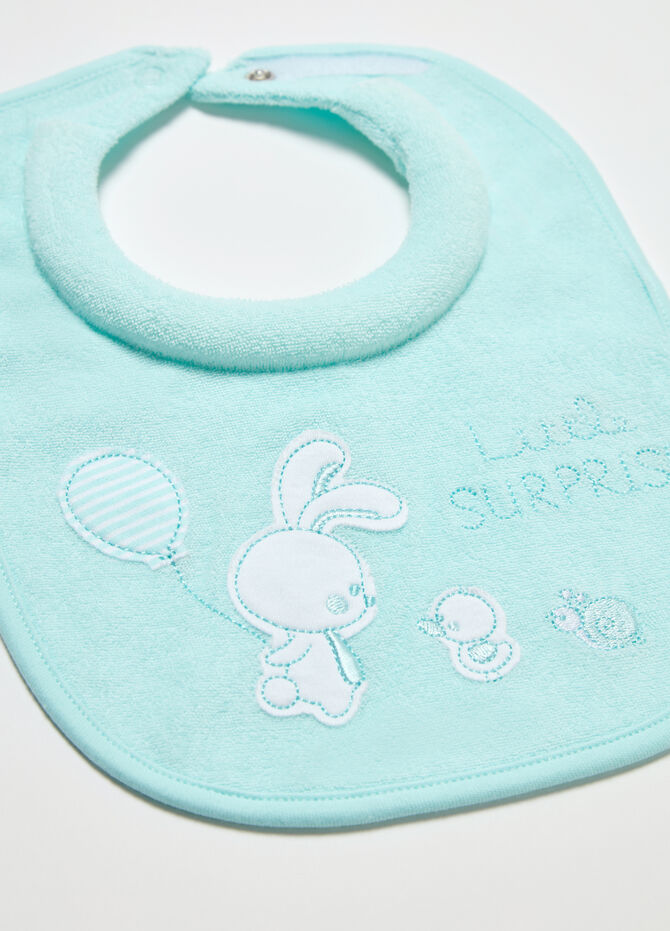 Two-pack BCI bibs with animals