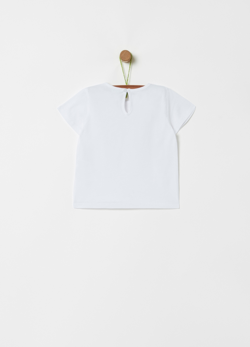 Organic cotton T-shirt with unicorn print image number null
