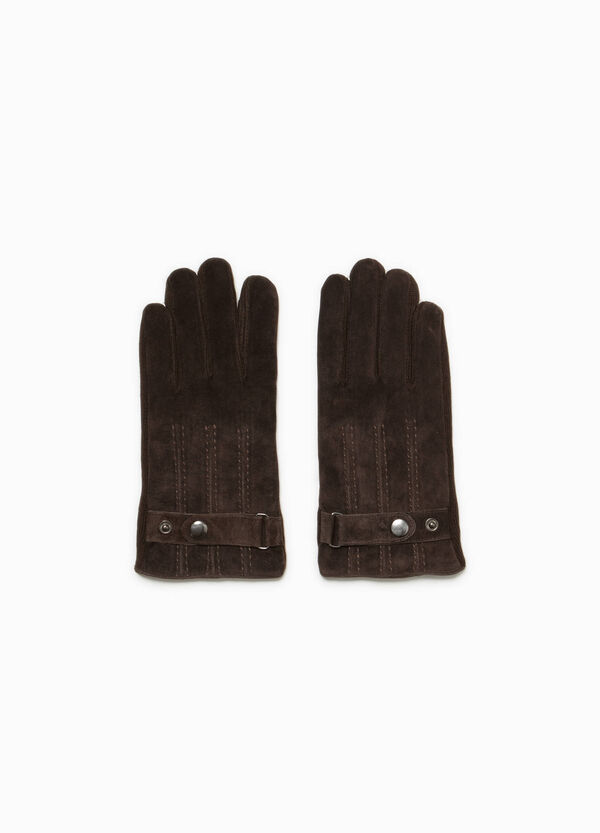 Leather gloves with adjustable strap | OVS