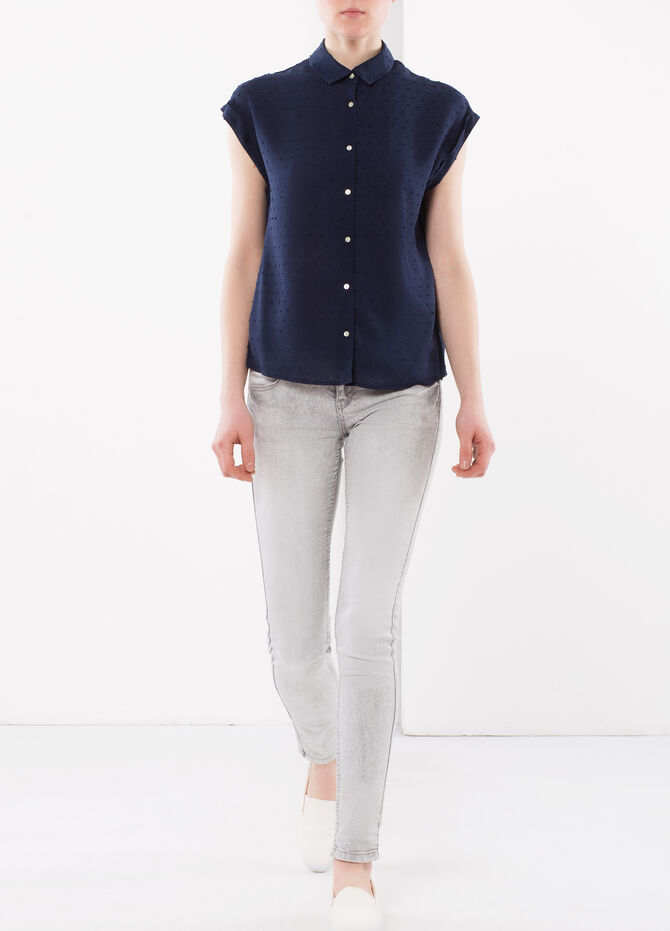 Shirt with embossed design