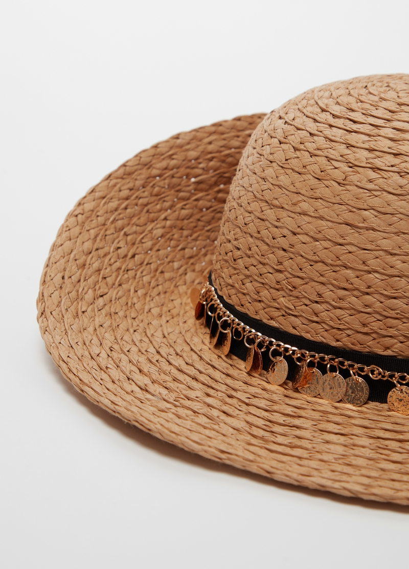 Straw hat with charms image number null